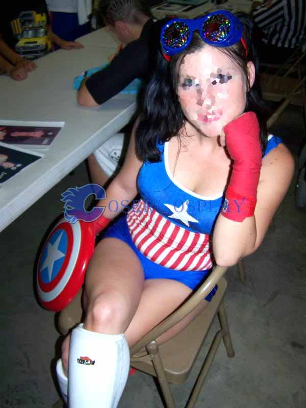 Captain America Cosplay Costume Leotard