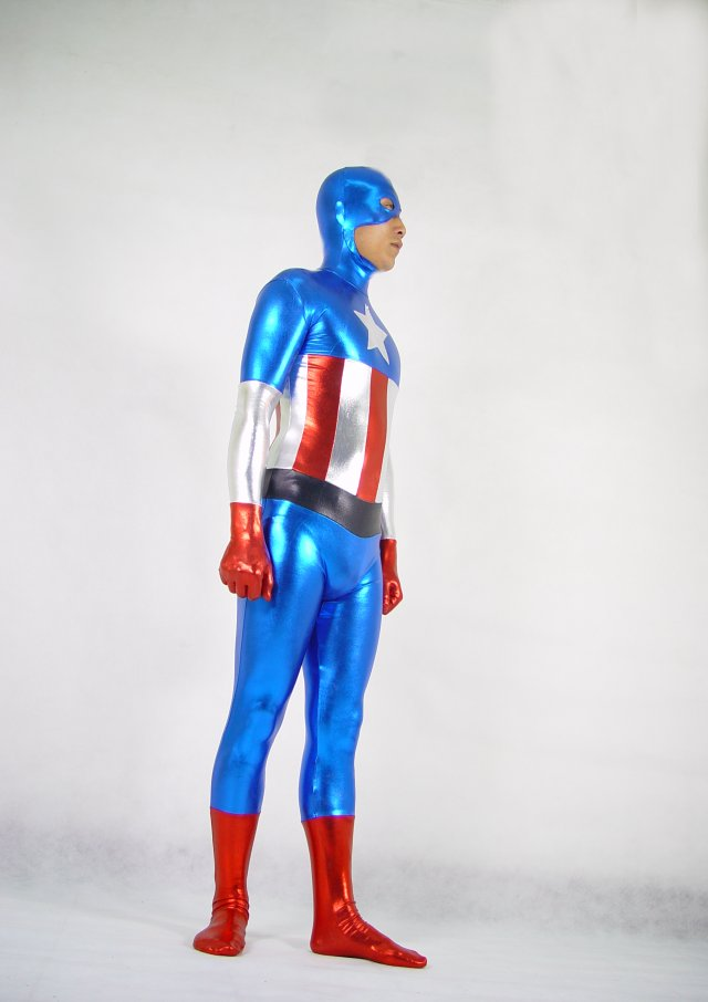 Captain America Cosplay Costume Zentai Men