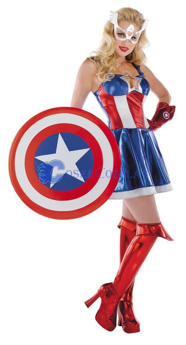 Captain America Cosplay Costumes Dress