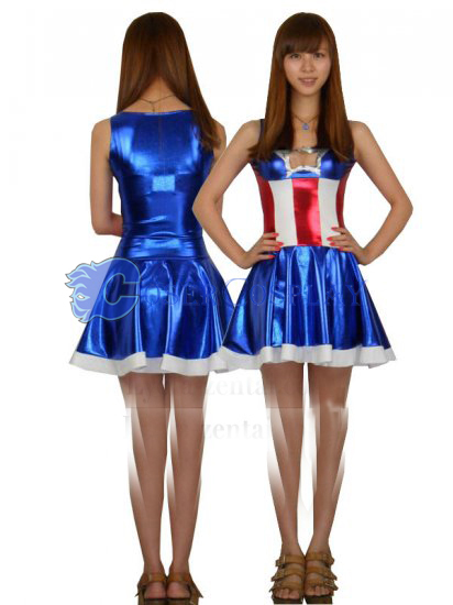 Captain America Halloween Costume Dress