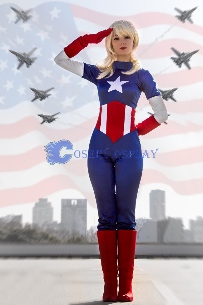 Captain America Halloween Costume Girls