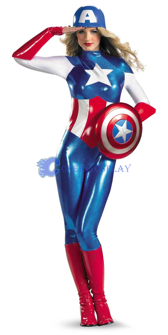 Captain America Halloween Costume Spandex