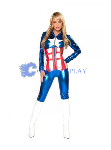Captain America Halloween Costume Suit