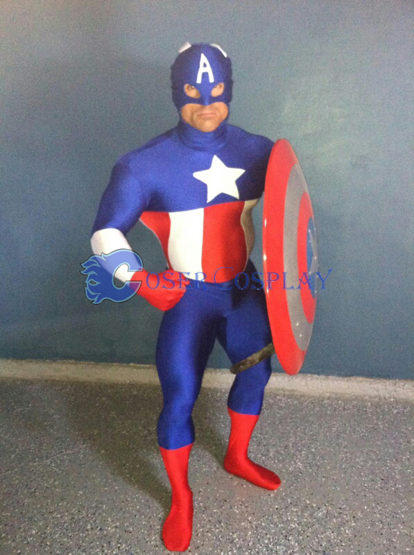 Captain America Halloween Costume Zentai