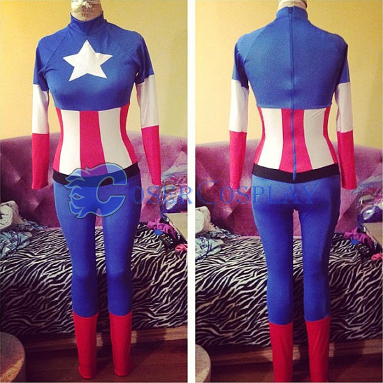 Captain America Halloween Costumes For Women
