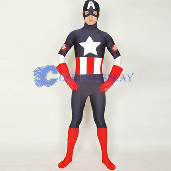 Captain America Halloween Costumes Zentai