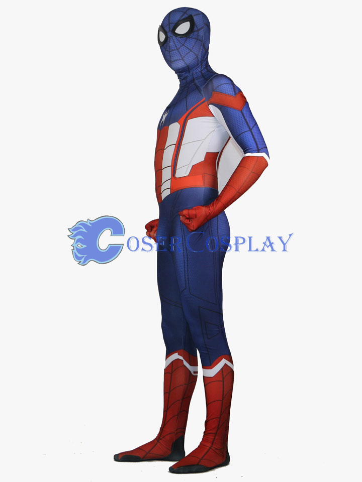 Captain America Spiderman Mixed Zentai Halloween