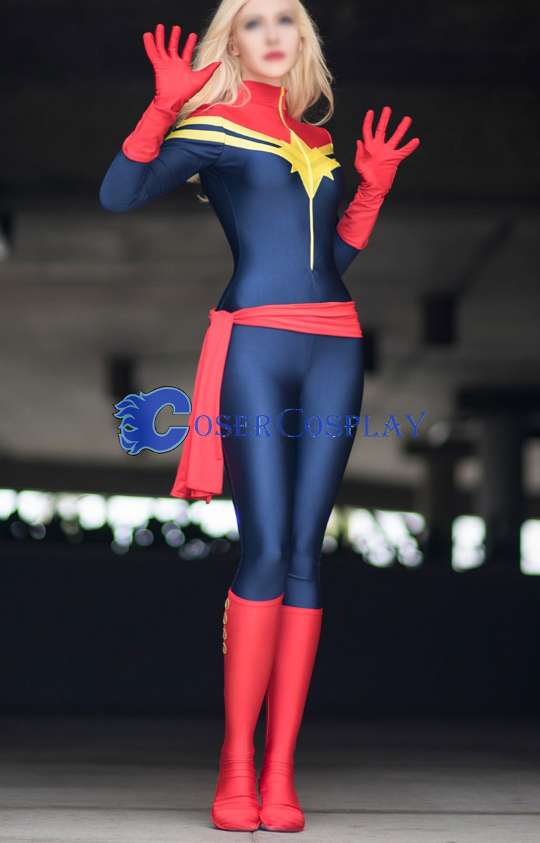 Captain Marvel Sexy Halloween Costumes For Women