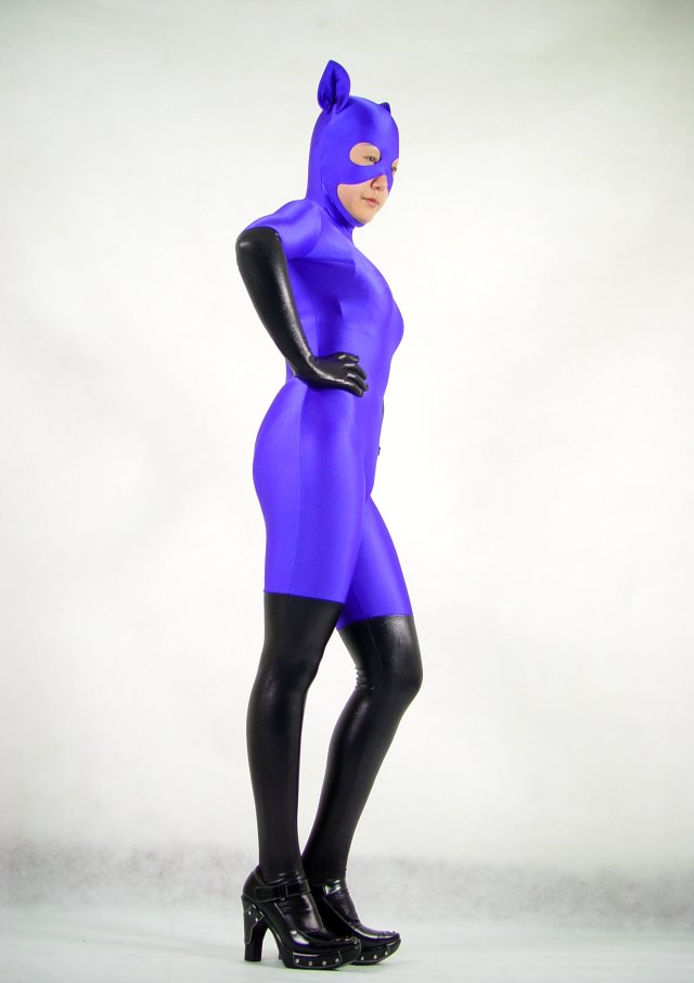 Cat Open Face Multi Color Zentai Suits