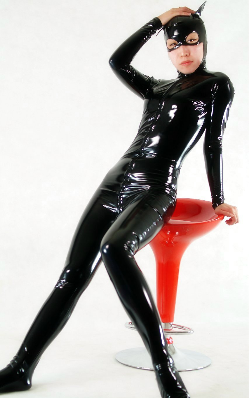 Cat PVC Sexy Halloween Costumes For Women