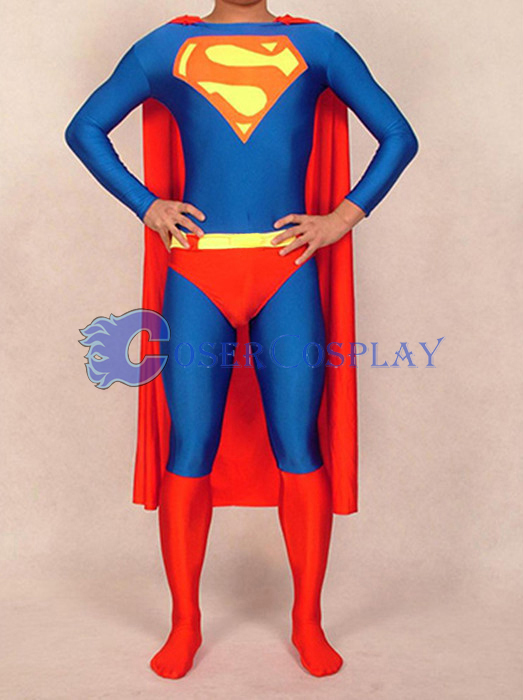 Catsuit Superman Costume Halloween Superhero Capes