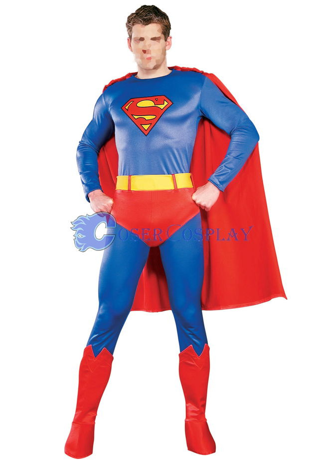 Classic Superman Catsuit Superhero Capes