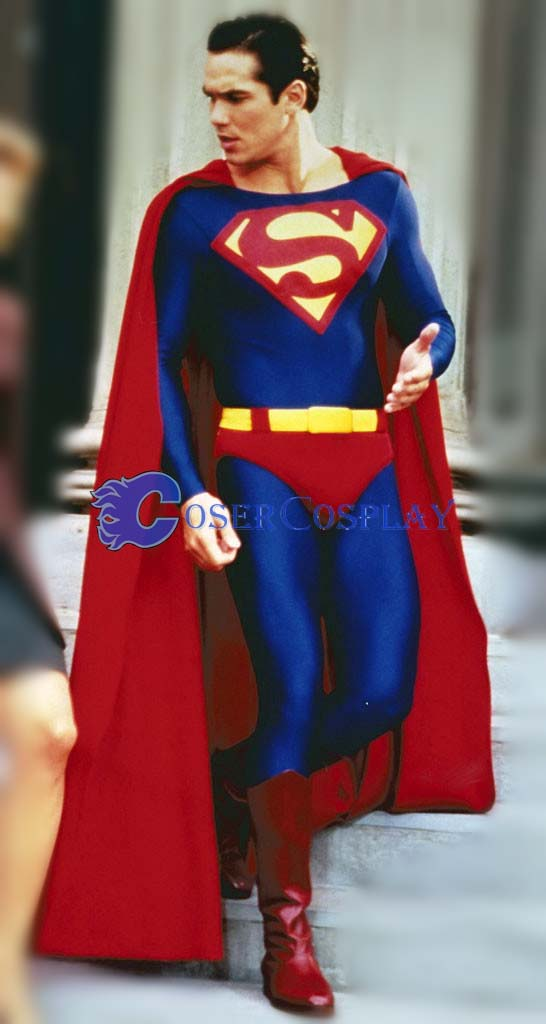 Classic Superman Cosplay Costume Dark Blue
