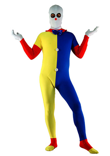 Sexy Clown Split Zentai Suit Halloween Costume 15112084