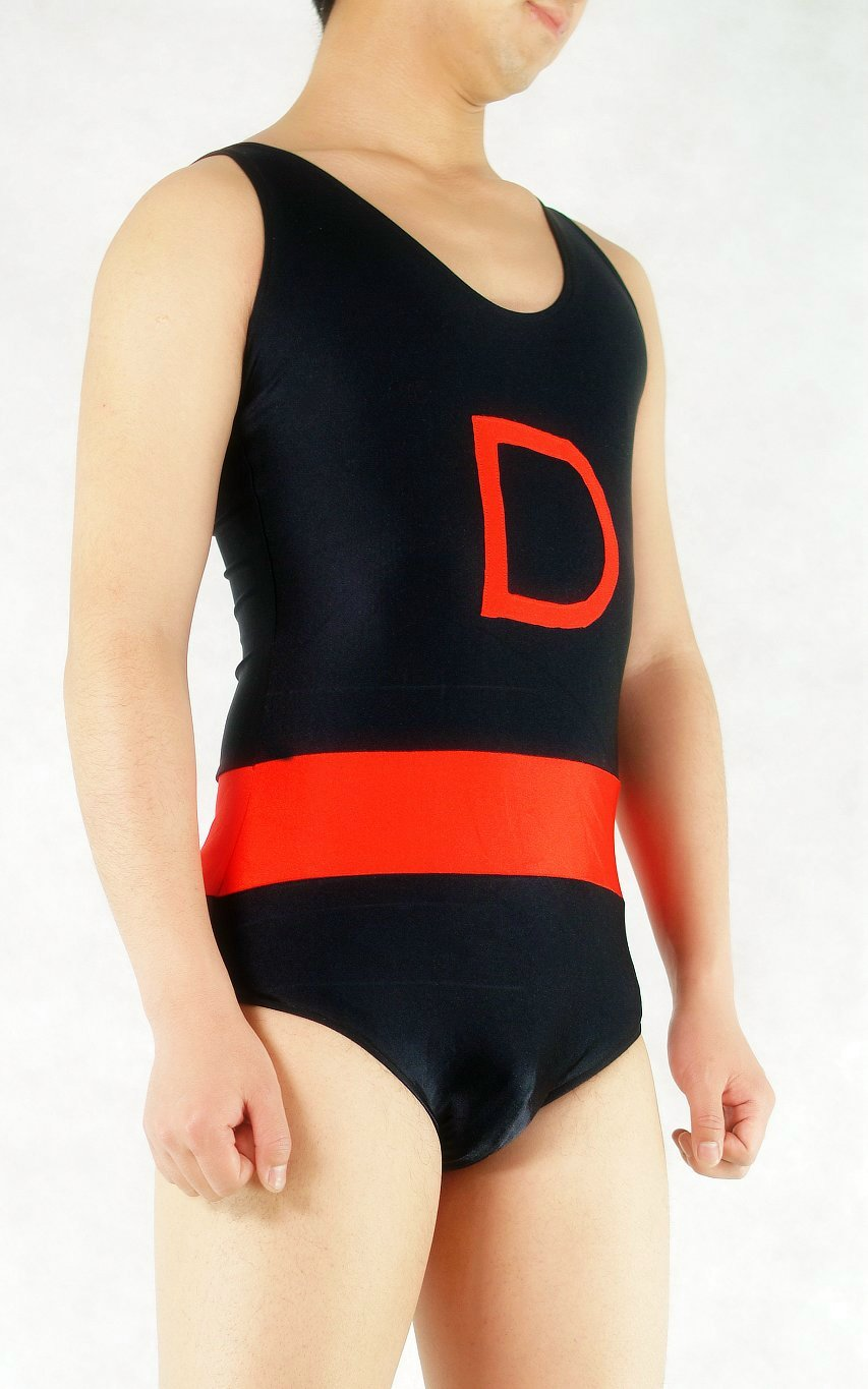 D Black Spandex Leotard
