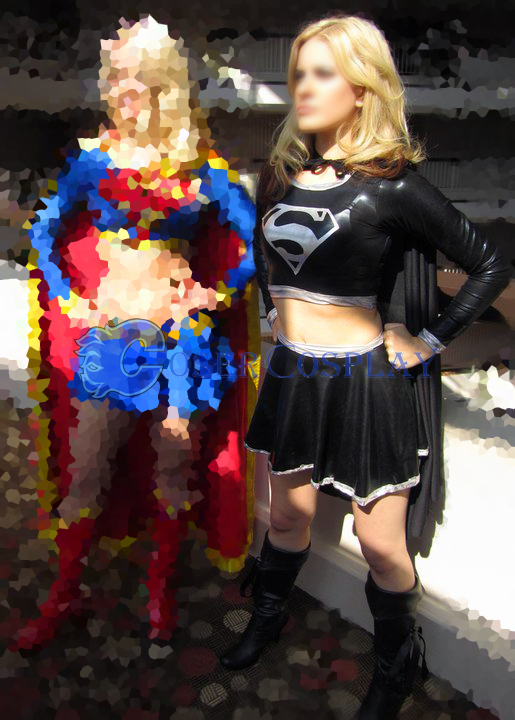 Dark Supergirl Cosplay Costume Black Color | cosercosplay.com