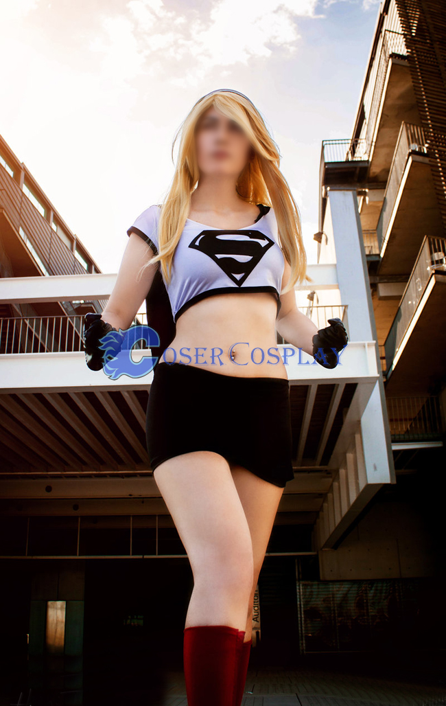 Dark Supergirl Cosplay Costume Fashion