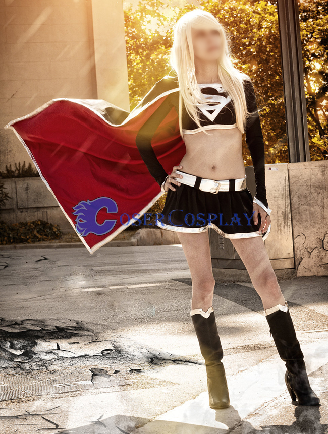 Dark Supergirl Cosplay Costume Fashion New