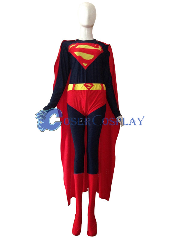Dark Supergirl Cosplay Costume Halloween Sleeves