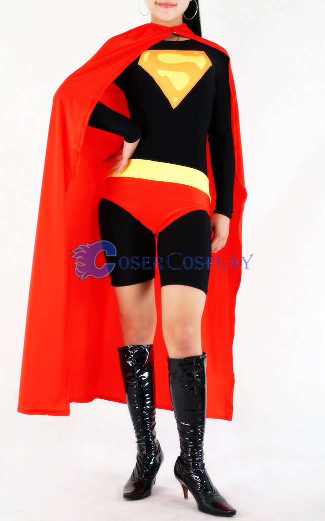 Dark Supergirl Cosplay Costume Lycra Halloween