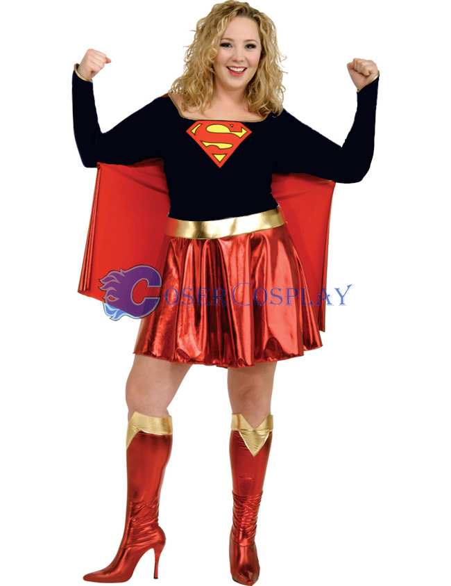 Dark Supergirl Plus Size Halloween Costumes