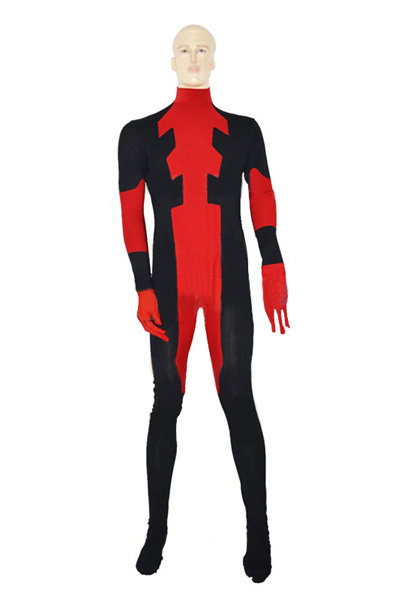Deadpool Cosplay Costume Cat Suit Halloween 15070252