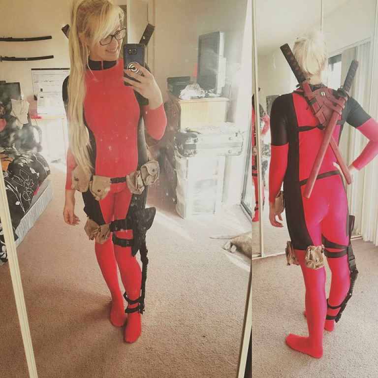 Deadpool Cosplay Costume Catsuit For Halloween 15070238