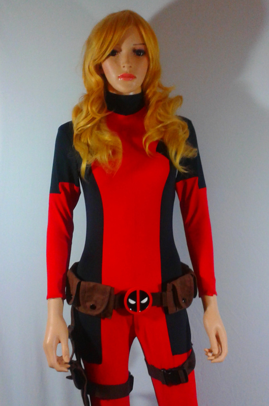 Deadpool Cosplay Costume Catsuit For Halloween 15070271