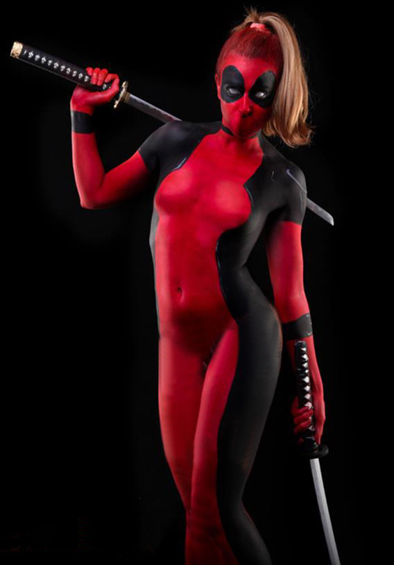 Deadpool Cosplay Costume Full Body Suit Halloween 15070259
