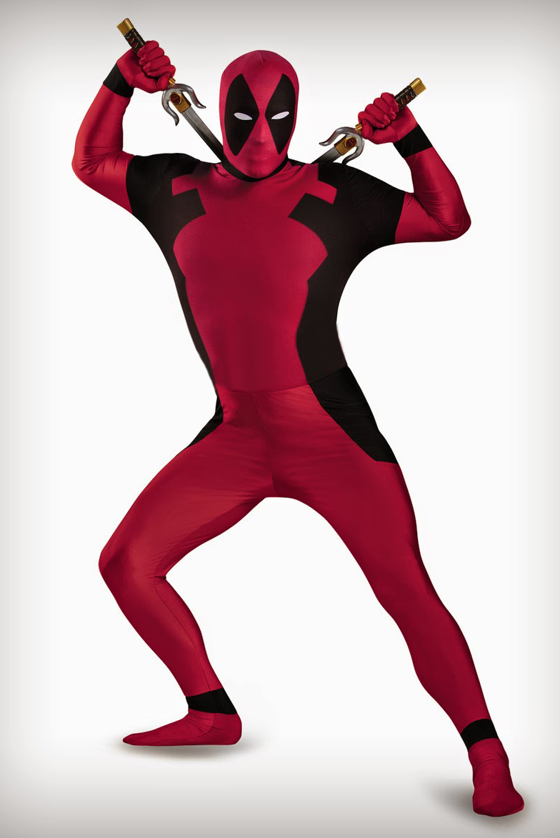Deadpool Cosplay Costume Full Bodysuit 15070222