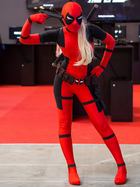 Deadpool Cosplay Costume Halloween Zentai Suits 15070219