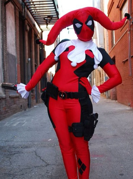Deadpool Cosplay Costume Harley Quinn For Halloween 15070231