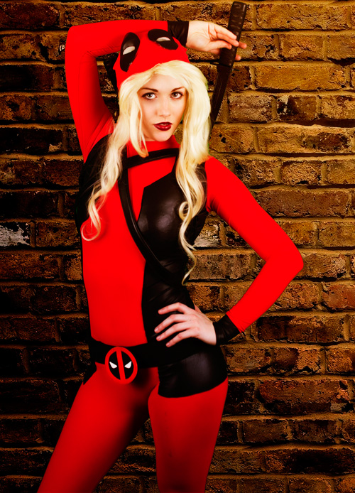 Deadpool Cosplay Costume Lady Spandex Suits 15070220