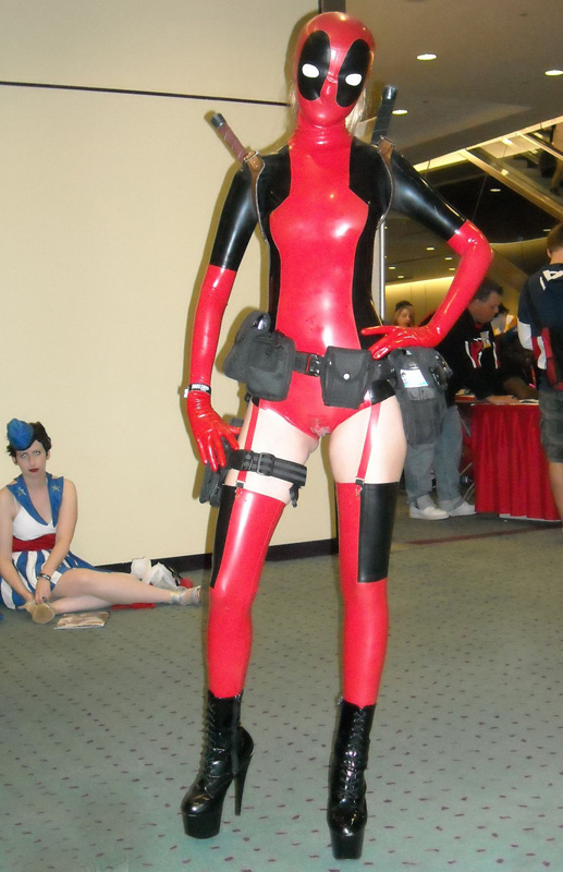 Deadpool Cosplay Costume PVC Catsuits Sexy 15070204