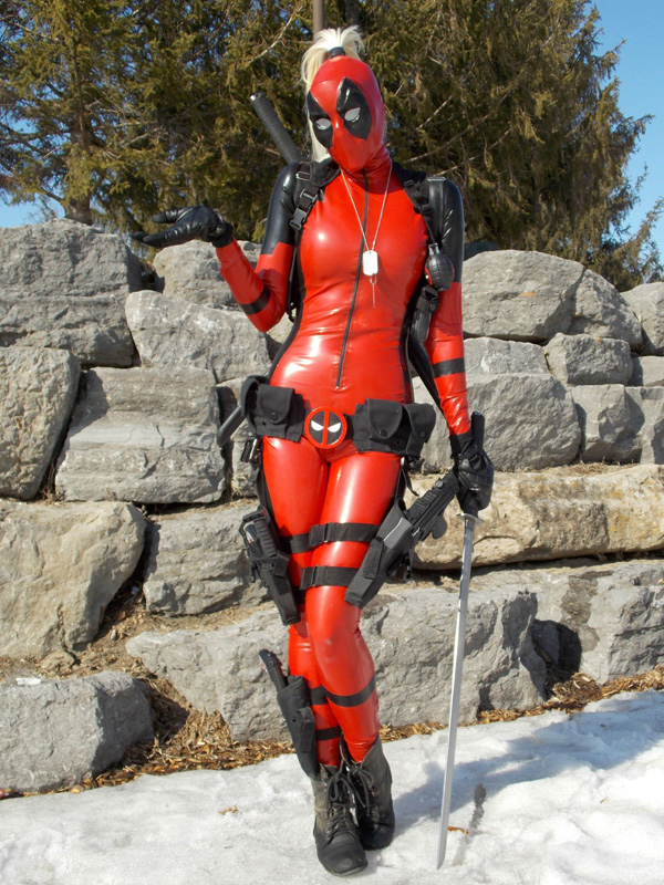 Deadpool Cosplay Costume PVC Zentai Suits 15070214