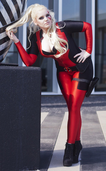 Deadpool Cosplay Costume Sexy Catsuit 15070249