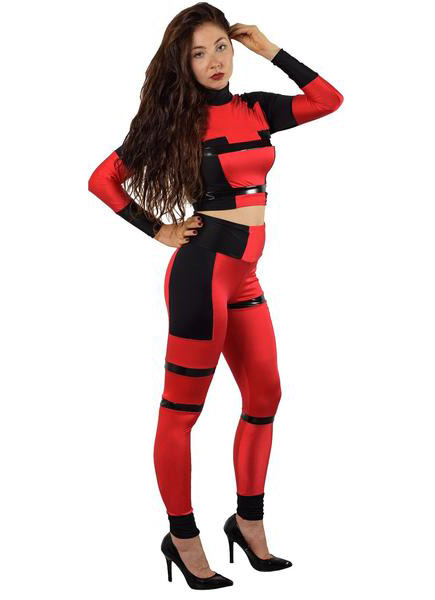 Deadpool Cosplay Costume Sexy Catsuit Halloween 15070235