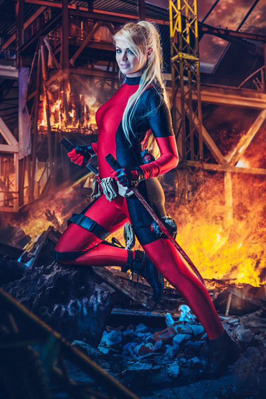 Deadpool Cosplay Costume Sexy For Halloween 15070237