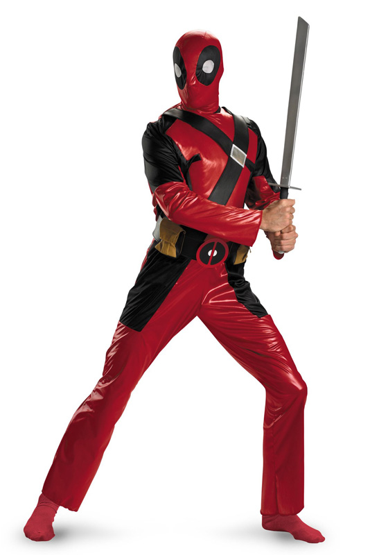 Deadpool Cosplay Costume Wetlook Suit 16030102
