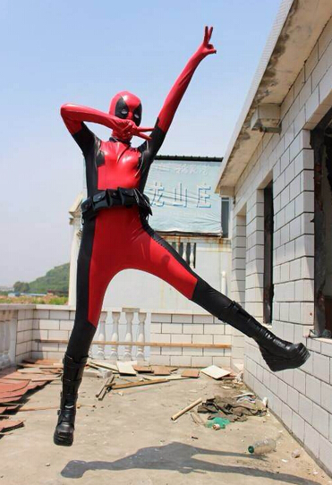 Deadpool Cosplay Costume Zentai Bodysuit 15070203
