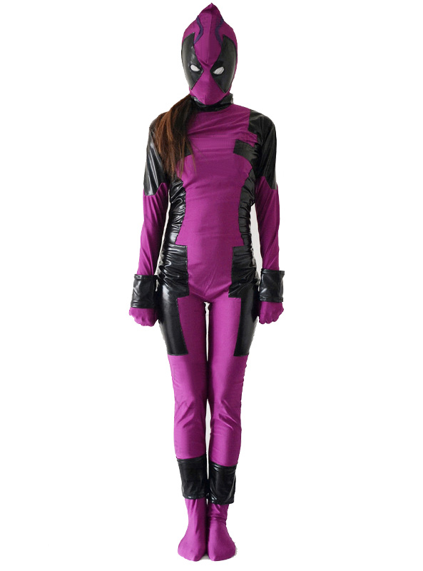 Deadpool Cosplay Costume Zentai For Halloween 15070229