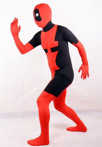 Deadpool Cosplay Costume Zentai For Halloween 15070230