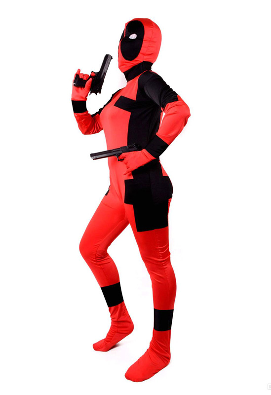 Deadpool Cosplay Costume Zentai For Halloween 15070233