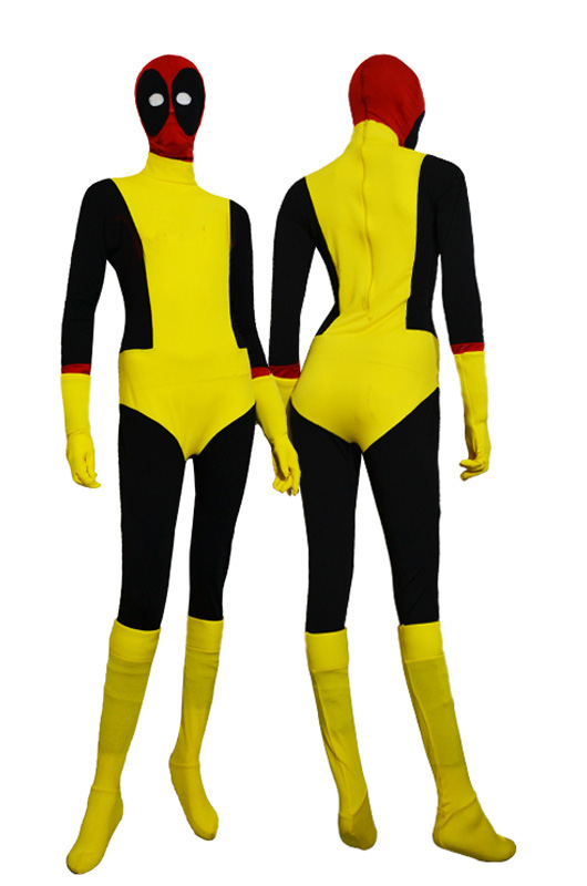 Deadpool Cosplay Costume Zentai For Halloween 15070254