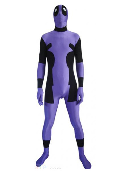 Deadpool Cosplay Costume Zentai Purple 16030103