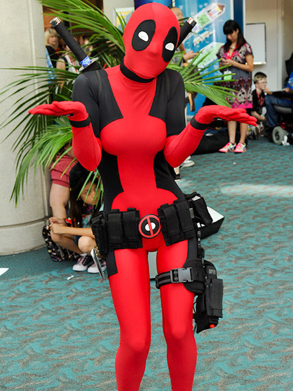 Deadpool Cosplay Costume Zentai Suit 15070247