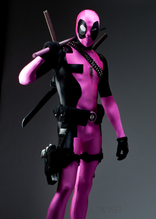 Deadpool Cosplay Costume Zentai Suits Pink 15070202
