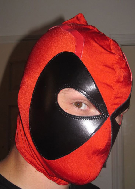 Deadpool Cosplay Hood Open Eyes 15070206