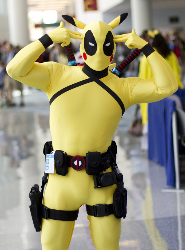 Deadpool Pikachu Cosplay Costume For Halloween 15070243
