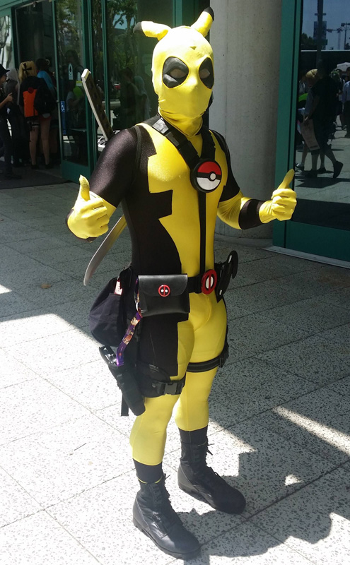Deadpool Pikachu Cosplay Costume For Halloween 15070244